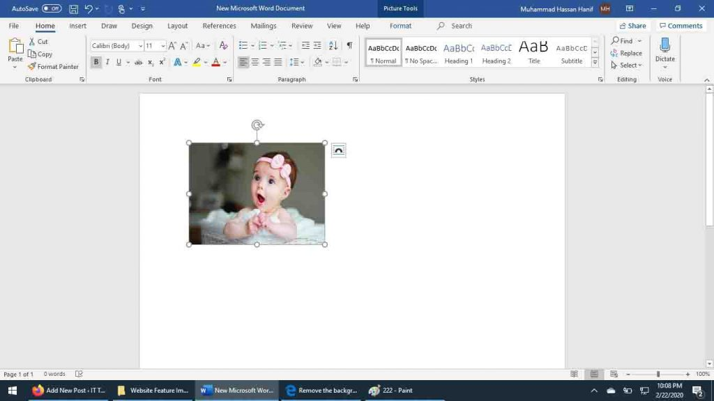 How to remove Picture Background Using Office