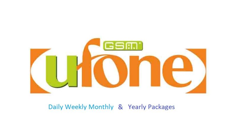 Ufone Daily Weekly Monthly and Yearly sms Packages
