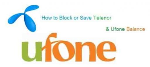 How to lock or Save Telenor and Ufone Balance