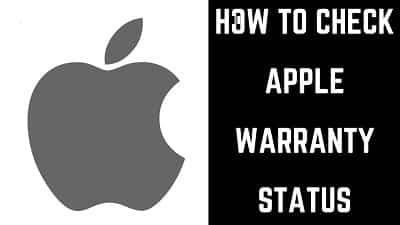 How to Check The warranty status of an Apple Device