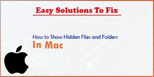 How to See Hidden file on a Mac