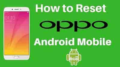 How to Hard Reset OPPO Mobile
