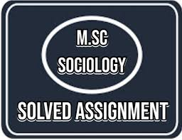 AIOU MSc Sociology Autumn 2020 Solved Assignments