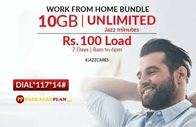 Jazz Work From Home Bundle Rs 95 Rat 8 AM to 6 PM