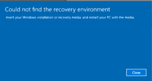Fix Windows Could Not Find Recovery Environment